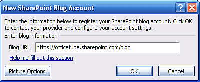 SharePoint Blog Posting from Microsoft Word