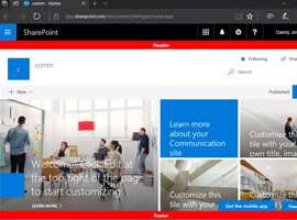 Custom modern page header and footer using SharePoint Framework [Part 3]